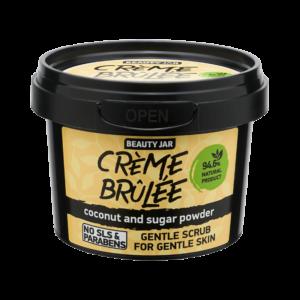 Scrub facial pentru ten sensibil cu cocos si pudra de zahar, CREME BRÛ...