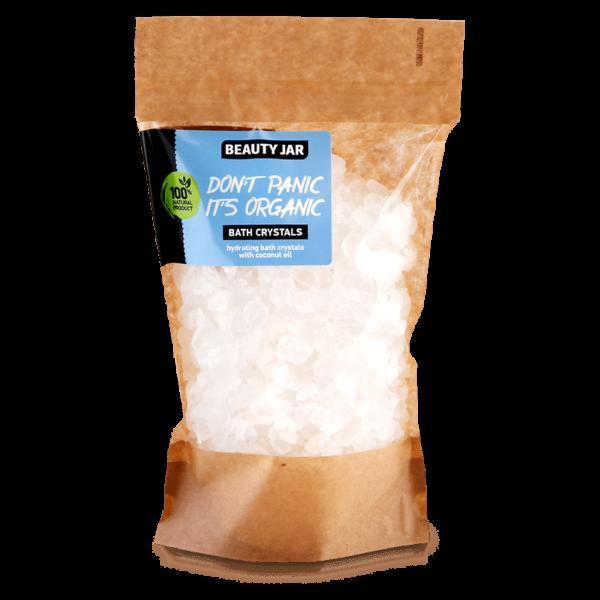 Cristale de baie hidratante cu ulei de cocos si sare de mare, Beauty Jar, 600g