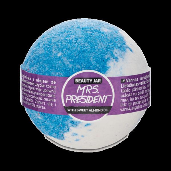 Bila de baie cu parfum natural, ulei de migdale si vitamina E, Mrs. President, Beauty Jar, 150g