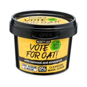 Masca faciala exfolianta cu ovaz si ulei de migdale, Vote for oat, Bea...