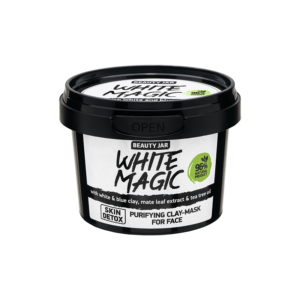 Masca faciala purifianta cu argila alba si albastra, White Magic, Beau...