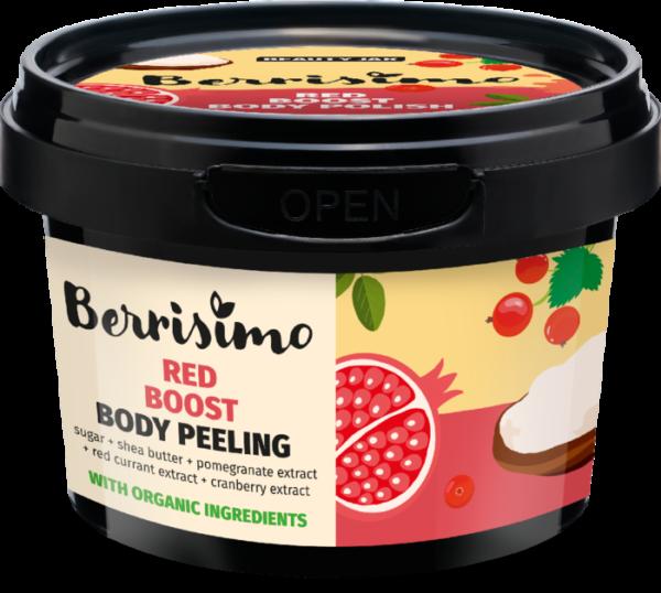 Exfoliant corporal cu zahar si extract de rodie, Berrisimo, Beauty Jar, 300 g