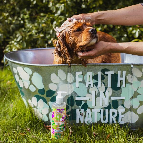 Sampon vegan pentru caini, curatare profunda, Faith in Nature, 400 ml