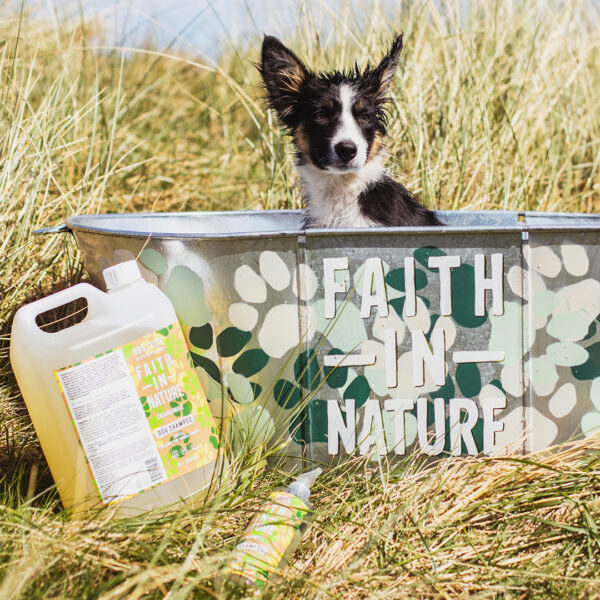 Sampon vegan pentru caini cu pielea sensibila, Faith in Nature, 400 ml