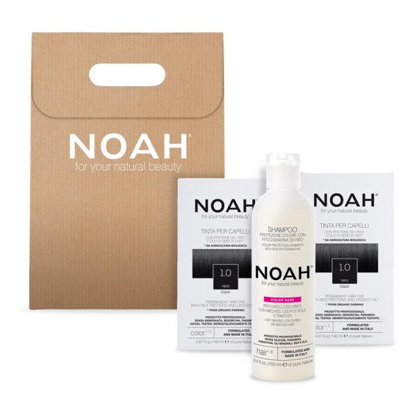 Set 2+1 Color & Protect Negru 1.0, Noah, 630 ml
