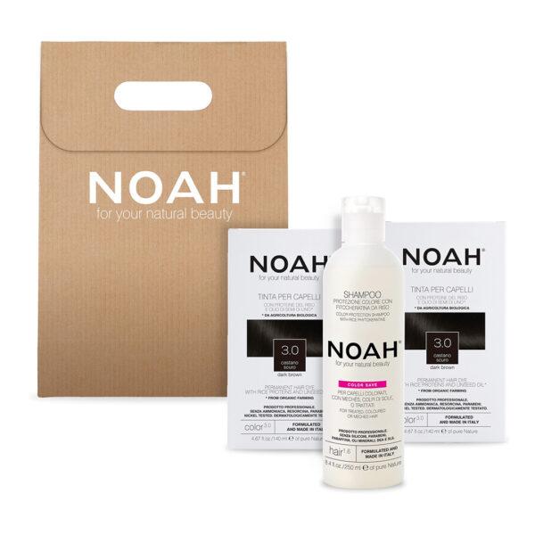 Set 2+1 Color & Protect Saten inchis 3.0, Noah 630 ml