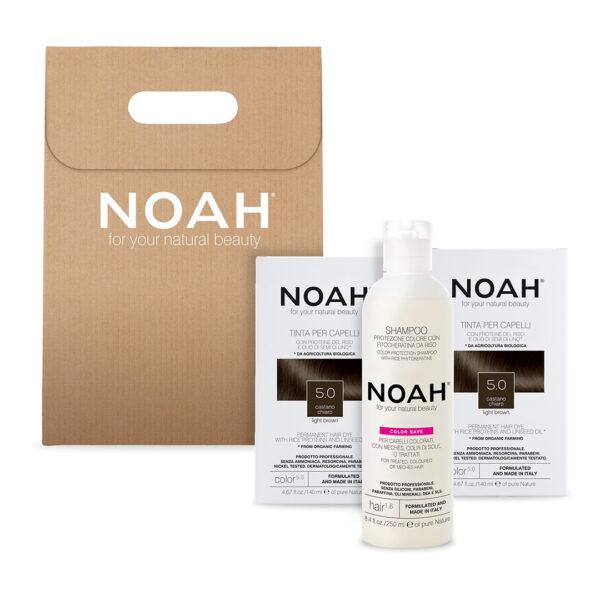 Set 2+1 Color & Protect Saten deschis 5.0, Noah, 630 ml