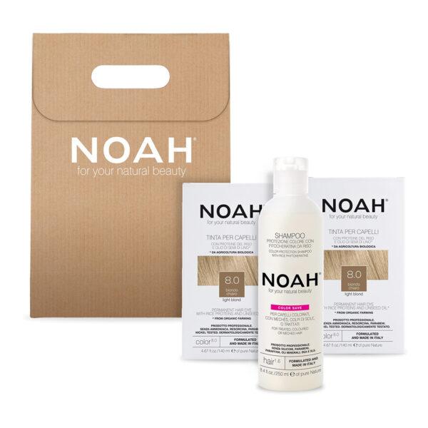 Set 2+1 Color & Protect Blond deschis 8.0, Noah, 630 ml