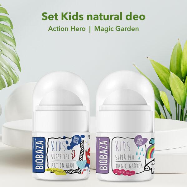 Set Kids natural deo, 4 pcs
