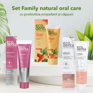 Set Family natural oral care cu Probiotice si Omyadent, 3 pcs